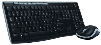 Logitech Wireless Combo MK270 Black USB